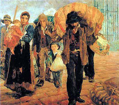 Os emigrantes por Antonio Rocco 1910